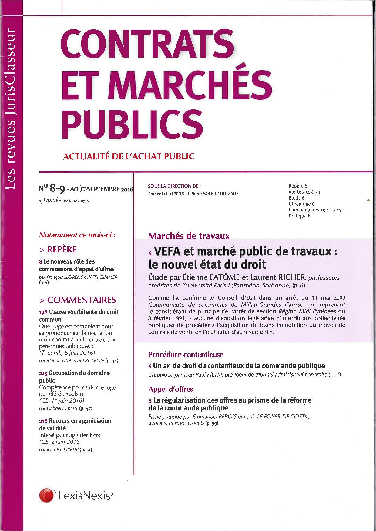 marché public avocat