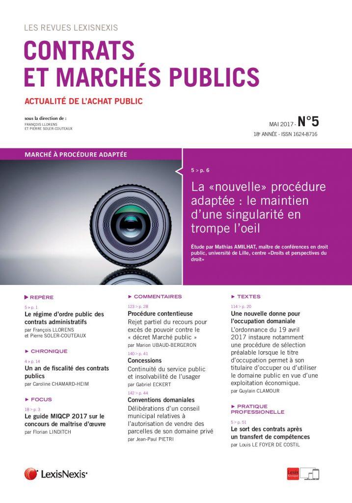 marché public - transfert de contrat