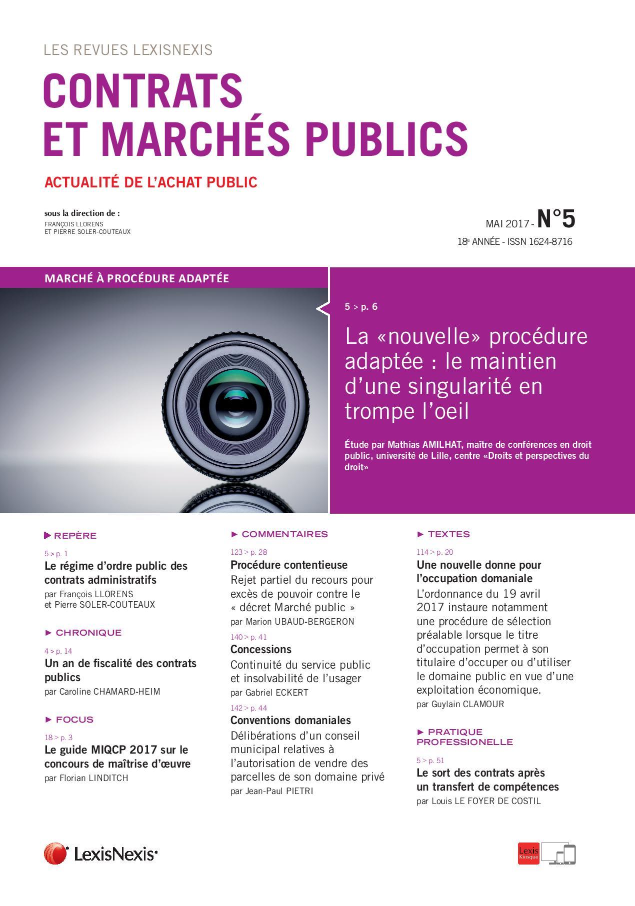 Contrats-et-Marchés-publics-n°-5-Mai-2017